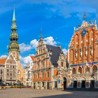 Riga-prestolnica Latvije, s posebnim letalom